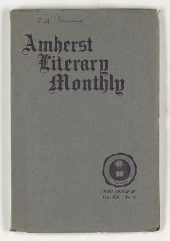 Amherst literary monthly, 1905 November