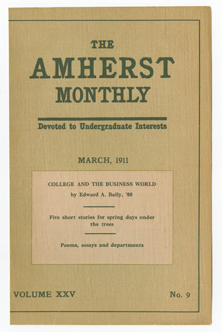 Amherst monthly, 1911 March