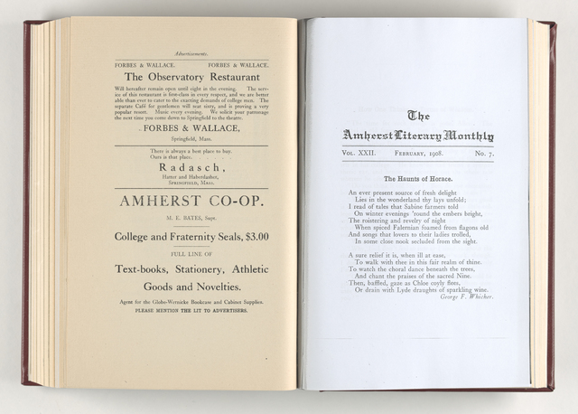 Amherst literary monthly, 1908 February