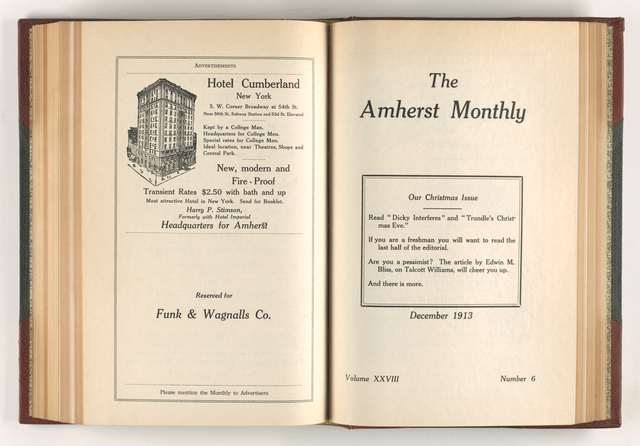 Amherst monthly, 1913 December