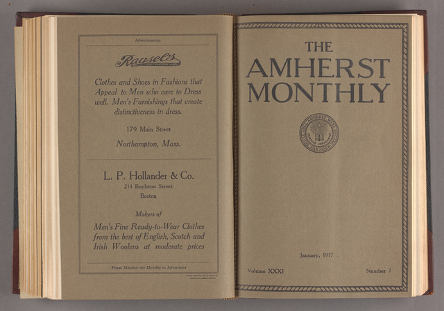 Amherst monthly, 1917 January