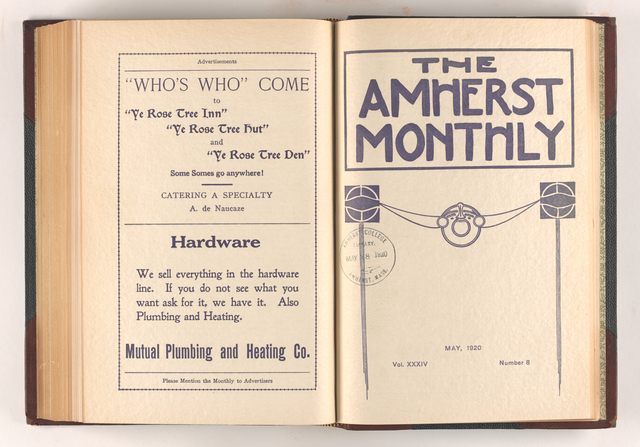Amherst monthly, 1920 May