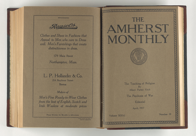 Amherst monthly, 1917 April