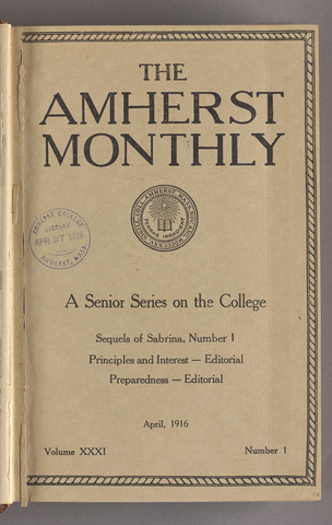 Amherst monthly, 1916 April