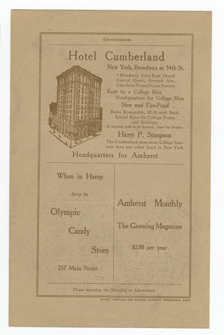 Amherst monthly, 1914 November