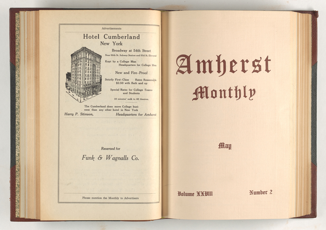 Amherst monthly, 1913 May