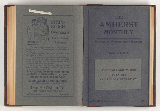 Amherst monthly, 1912 January