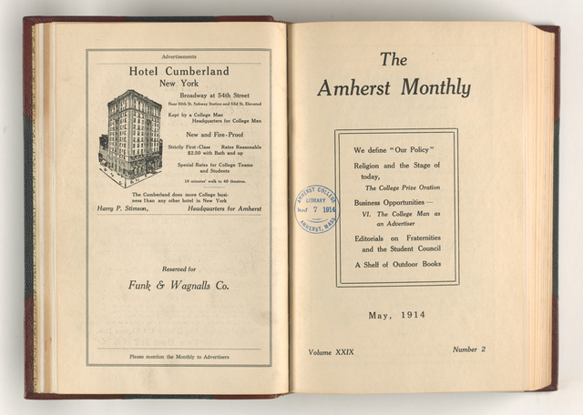 Amherst monthly, 1914 May