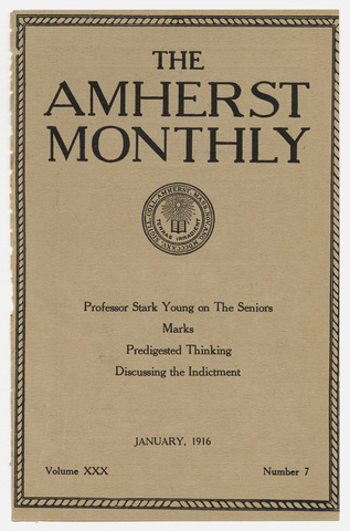 Amherst monthly, 1916 January