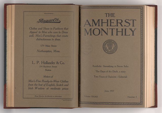 Amherst monthly, 1917 June