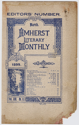 Amherst literary monthly, 1899 March