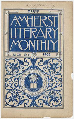 Amherst literary monthly, 1902 March
