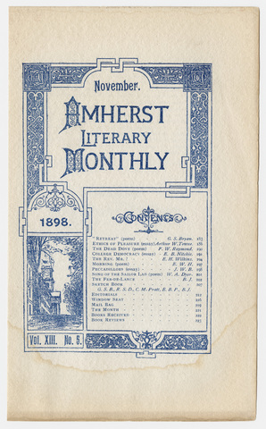 Amherst literary monthly, 1898 November
