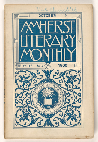 Amherst literary monthly, 1900 October