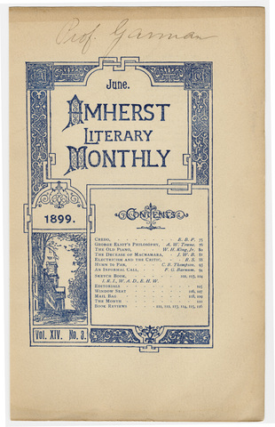 Amherst literary monthly, 1899 June