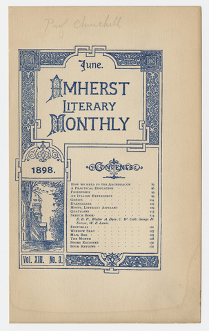 Amherst literary monthly, 1898 June
