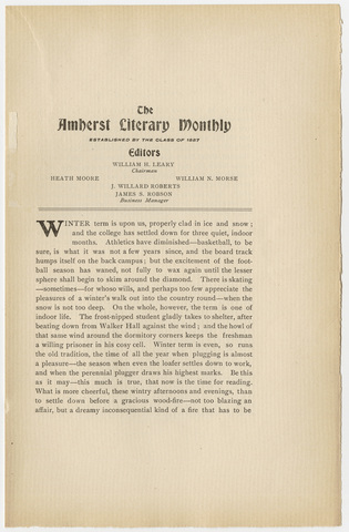 Amherst literary monthly, 1903 January