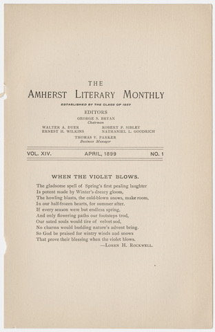 Amherst literary monthly, 1899 April
