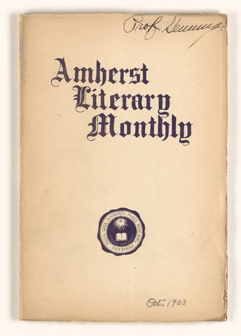 Amherst literary monthly, 1903 October