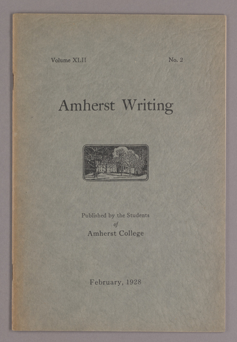 Amherst writing, 1928 February