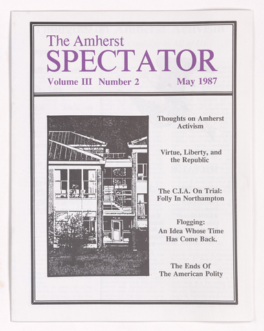 Amherst spectator, 1987 May