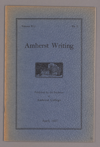 Amherst writing, 1927 April