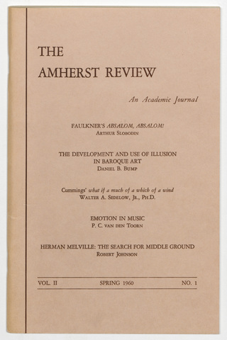 Amherst review, 1960 spring