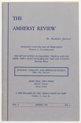 Amherst review, 1959 spring