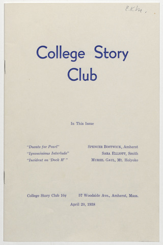 College story club, 1938 April 20