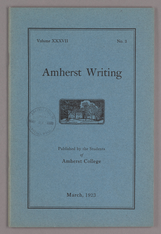 Amherst writing, 1923 March