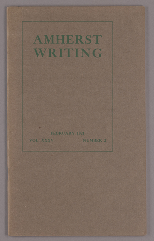 Amherst writing, 1921 February