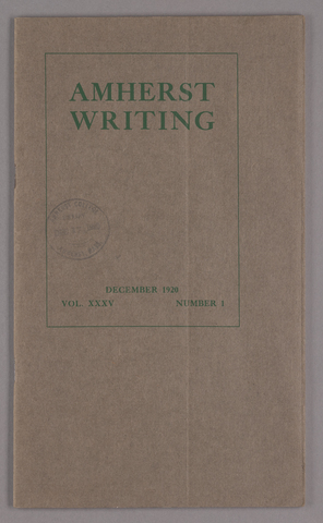 Amherst writing, 1920 December
