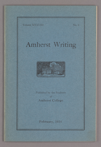 Amherst writing, 1924 February