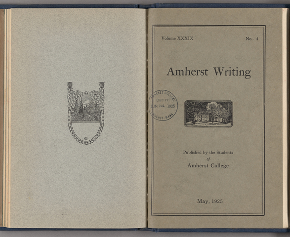 Amherst writing, 1925 May