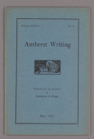 Amherst writing, 1922 May