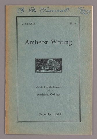 Amherst writing, 1926 December