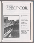 The Amherst spectator, 1987 November