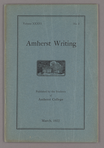 Amherst writing, 1922 March
