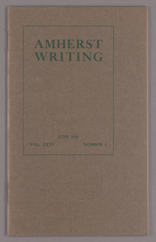 Amherst writing, 1921 June
