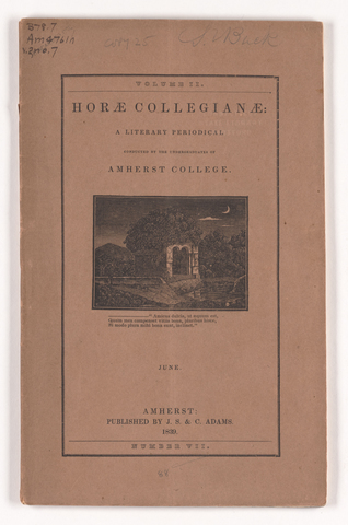 horae collegianae, 1839 June