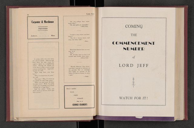Lord Jeff, 1933 May