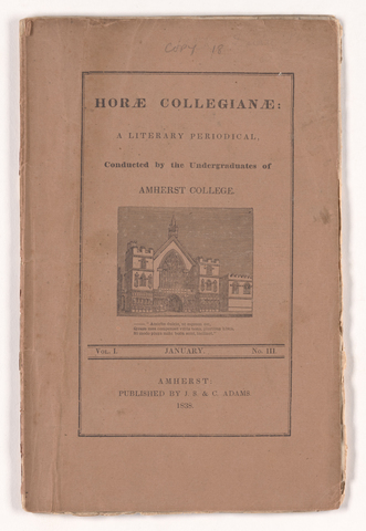 horae collegianae, 1838 January