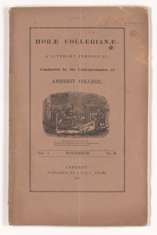 horae collegianae, 1837 November