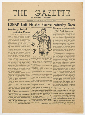 gazette of Amherst College, 1944 June 16