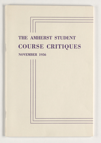 Course critiques, 1956 November