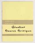 Student course critique, 1966-1967