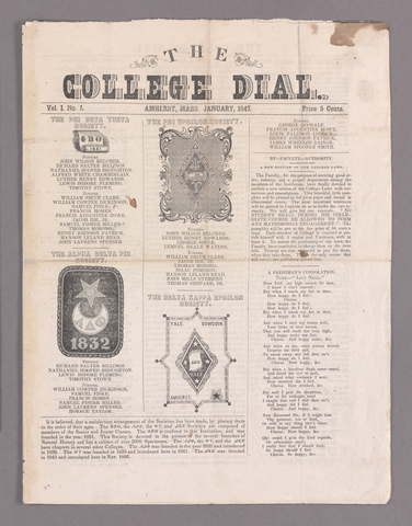 college dial, 1847 January