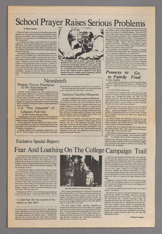 Newsweek on campus, 1984 April