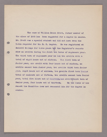 Amherst College faculty meeting minutes 1913/1914
