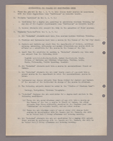 Amherst College faculty meeting minutes 1918/1919